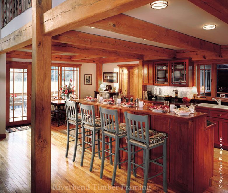 Pleasant Kitchen | timber frames | Pinterest