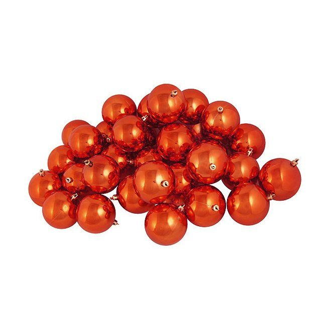 Shiny Shatterproof Christmas Ball Ornament | Orange ...