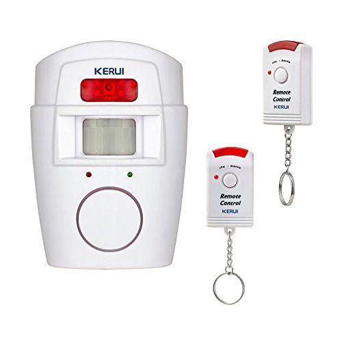 KERUI u2013 Alarme sans fil Infrarouge Détecteur de Mouvement Sirène 105 - eclairage exterieur detecteur automatique
