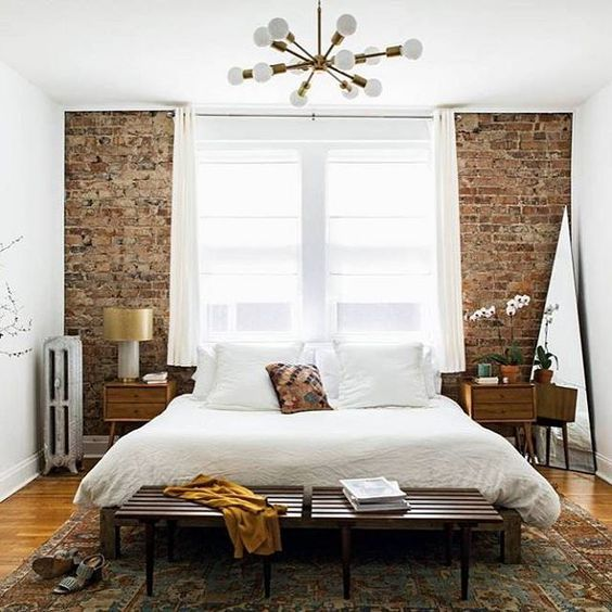 Crushing On Exposed Brick Walls Brick Wall Bedroom White