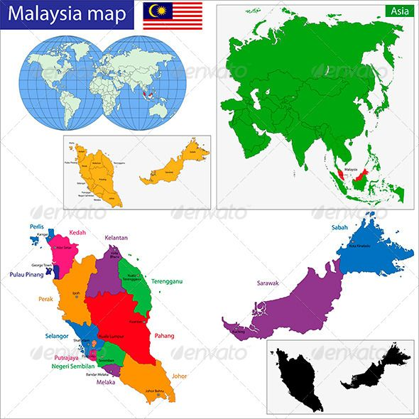 Malaysia Map Vietnam Map Colorful Map Map