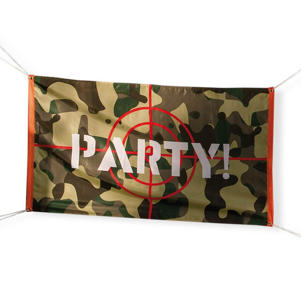 15m Green Brown Army Camouflage Party Target Outdoor Flag Banner
