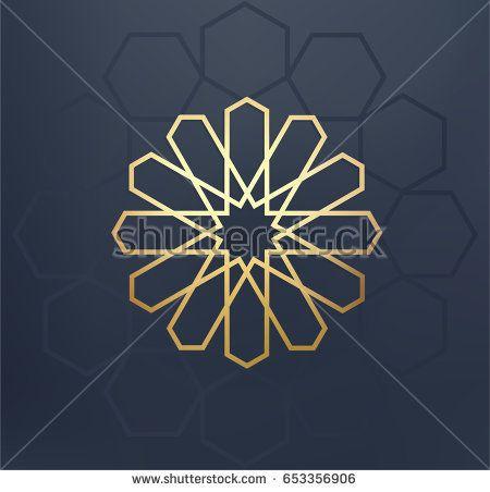 islamic arabic background gold traditional pattern greeting card invitation for muslim community holy month ramadan kareem vector illustration