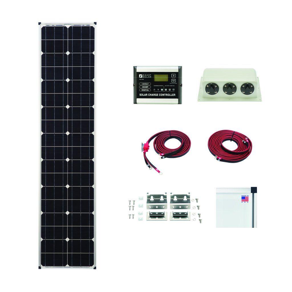 Zamp 90 Watt L Series Deluxe Solar Kit Solar Kit Solar Panel Kits Solar Panels