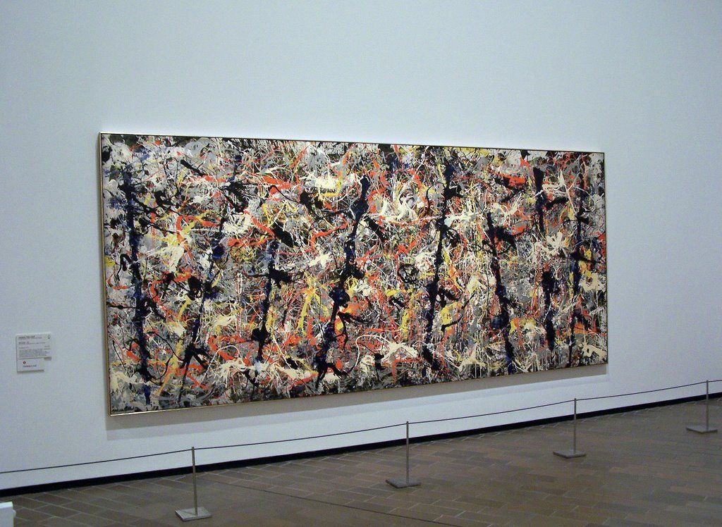 Blue Poles, Jackson Pollock (National Gallery, Canberra) | My ...