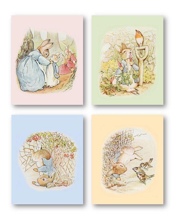 Peter Rabbit Nursery Decor Baby Art Prints