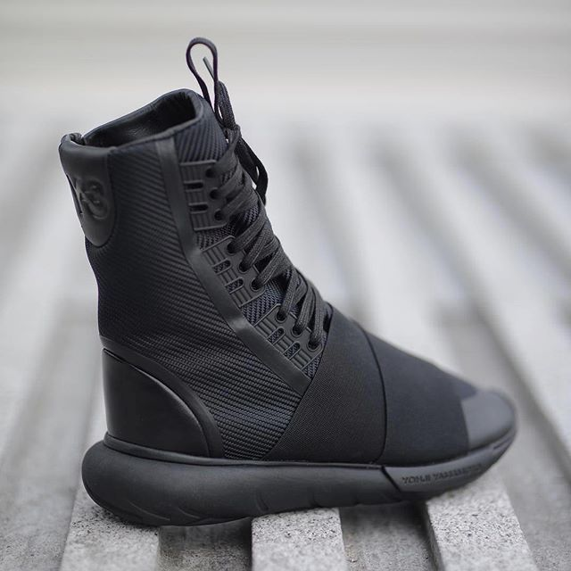 7239c846394cc The Y-3 Qasa Boot captures the essence of minimalism with its triple black  design. Available online and in stores. Image by  wrongweather  adidas  Y3   Qasa