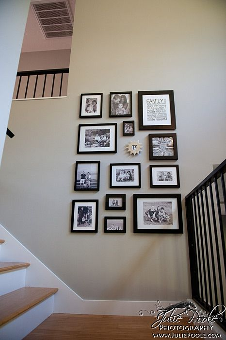 Chanda's photo wall. Many of these are done by me :)
