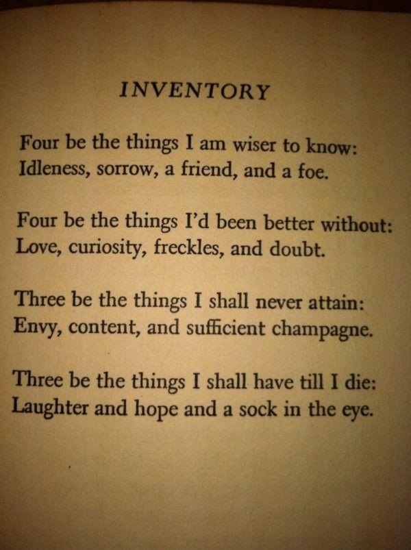 Dorothy Parkeru0027s epigrammatic poem on life Dorothy