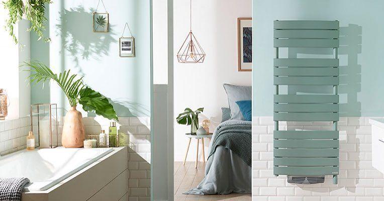 Si un vent de printemps soufflait sur votre salle de bains... ce serait chouette non ?  Optez pour des couleurs fra�ches pour le choix de votre s�che-serviettes, avec le mod�le Riviera vert eucalyptus.  #ThermorFrance #ChaleurConnect�e #DonnerViealaChaleu