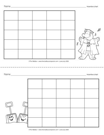 Incentive Chart, Lesson Plans - The Mailbox *K* teacher - incentive chart template