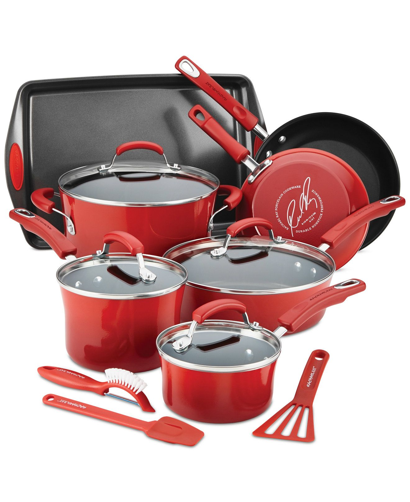rachael ray 14 piece nonstick cookware set sale clearance
