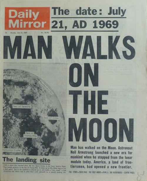 La muerte de Neil Armstrong nos recuerda la portada de aquel 21 de julio de 1969 cuando el hombre pisó la Luna / Neil Armstrong's death reminds us that cover of July 21, 1969 when man landed on the moon