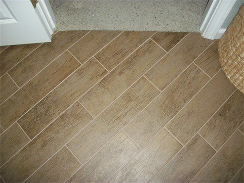 Grout On Wood Grain Tiles House Remodel Ideas In 2018 Pinterest