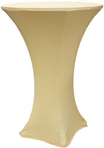 30 Diameter X 42 Height Champagne Beige Spandex Highboy Highboy Table Table Covers Beige
