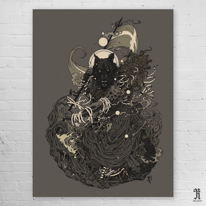 'FENRIR' Limited Edition Screen Print.