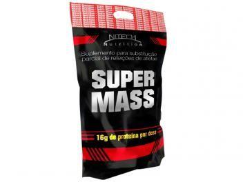 Refil Super Mass Hipercalórico 3Kg Chocolate - Nitech Nutrition