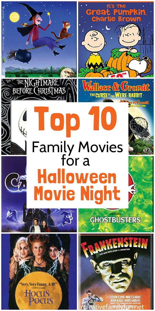Top 10 Halloween Movies for Family Movie Night | Halloween movies ...