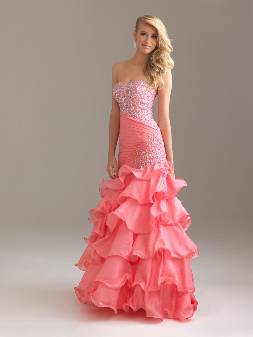 Red Sweetheart Night Moves Prom Dress 6425: DressProm.net | Vogue ...