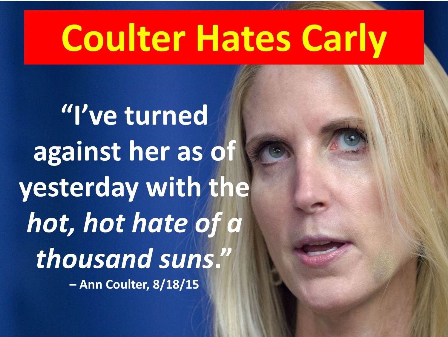 essay ldquo ann coulter hates carly fiorina rdquo at wp me pjhfp z essay ldquoann coulter hates carly fiorinardquo at wp