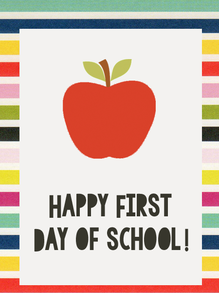 Happy First Day of School Tag | Just Make Stuff - go ...