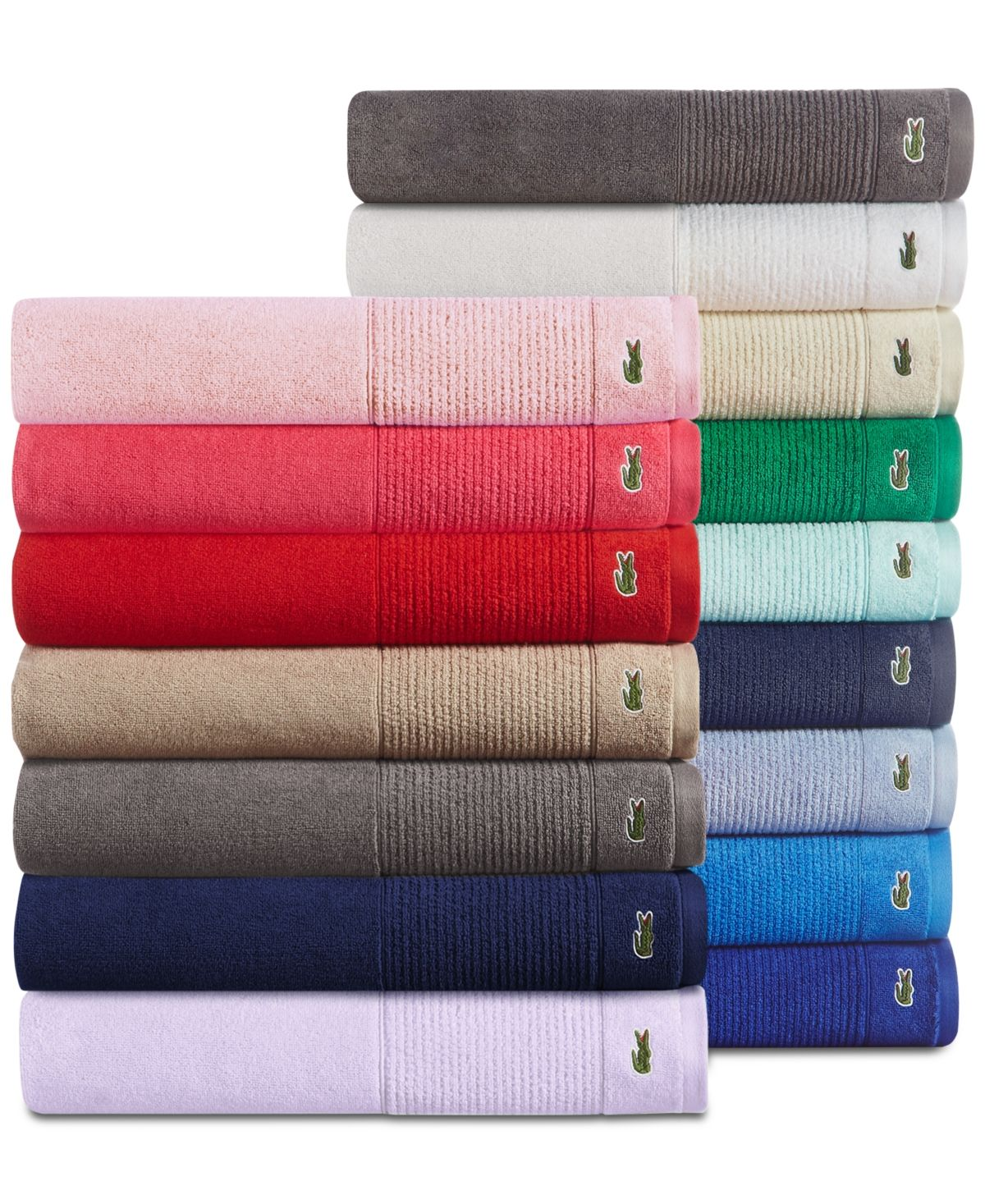 Lacoste Home Lacoste Mix And Match Cotton Fashion Towels Reviews Bath Towels Bed Bath Macy S Tub Mat Green Towels Baby Clothes Shops