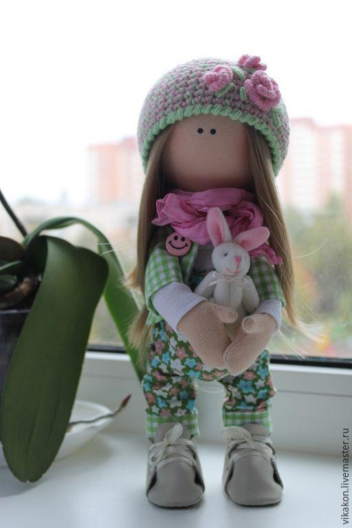 Купить Интерьерная кукла - разноцветный, кукла ручной работы, кукла, кукла в подарок, кукла интерьерная ♡