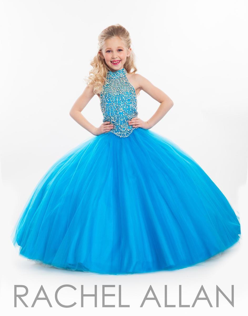 Rachel Allen 2016 Girls Pageant Dresses Crystals Beaded Sky Blue