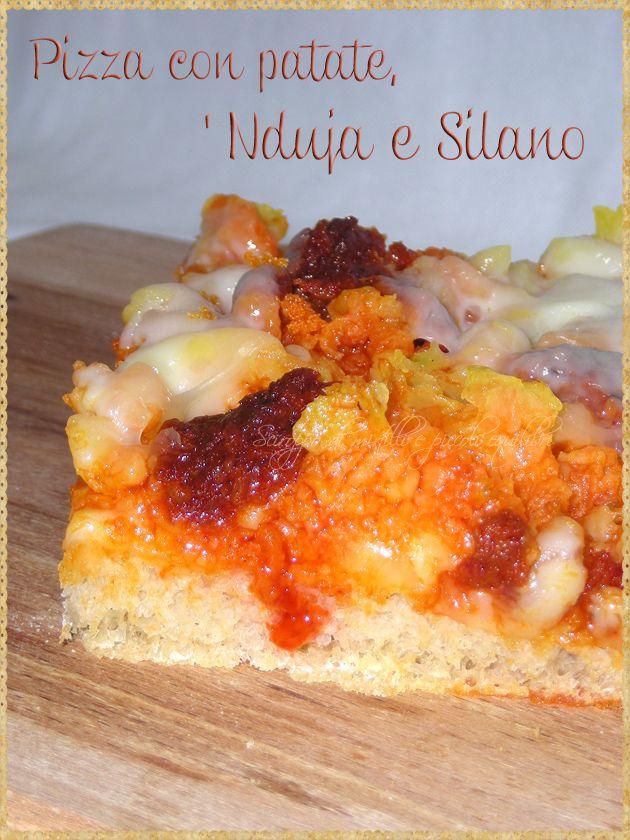 Pizza con patate, 'Nduja e Silano (Pizza with potatoes, 'Nduja and Silano) #Pizza