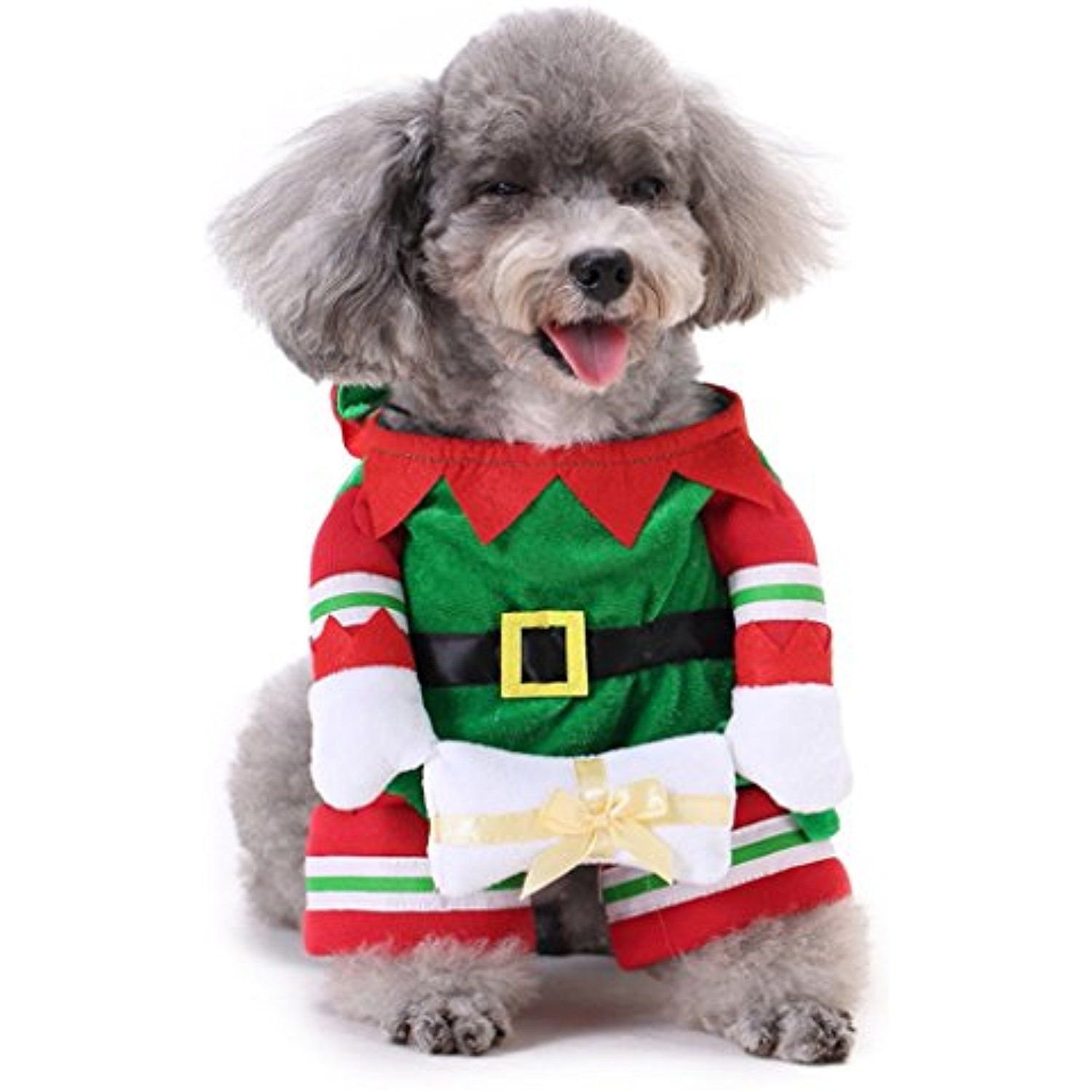 Quietcloud Christmas Elf Funny Pet Dog Costume With Hat Size Xl