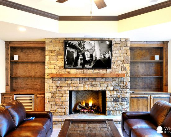 Basement Fireplace Design Pictures Remodel Decor And