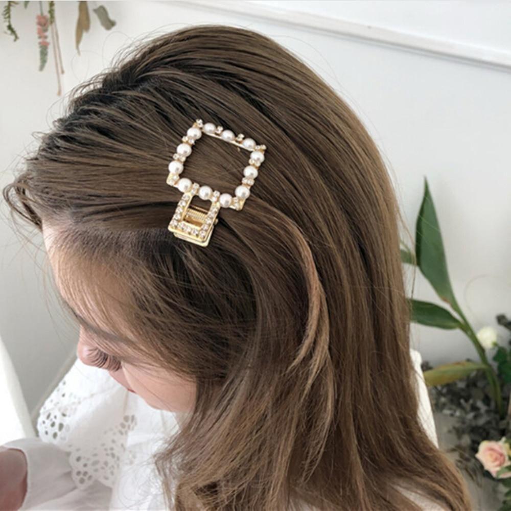 1 Pc Pearls Hair Clips Women Sweet Korean Style Hairpins Alloy Bb Hairgrip Girls Barrettes Headwear Hair Accessories Hair Clips Hair Pins Hair Accessories
