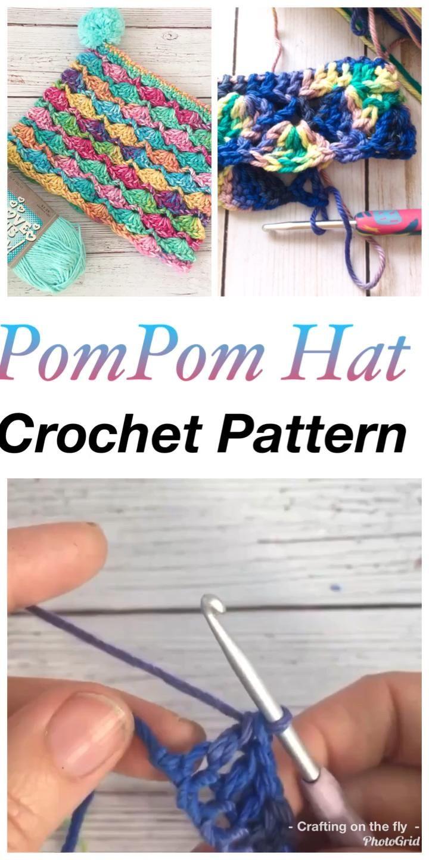 Photo of Free Crochet Pattern Pompom Hat