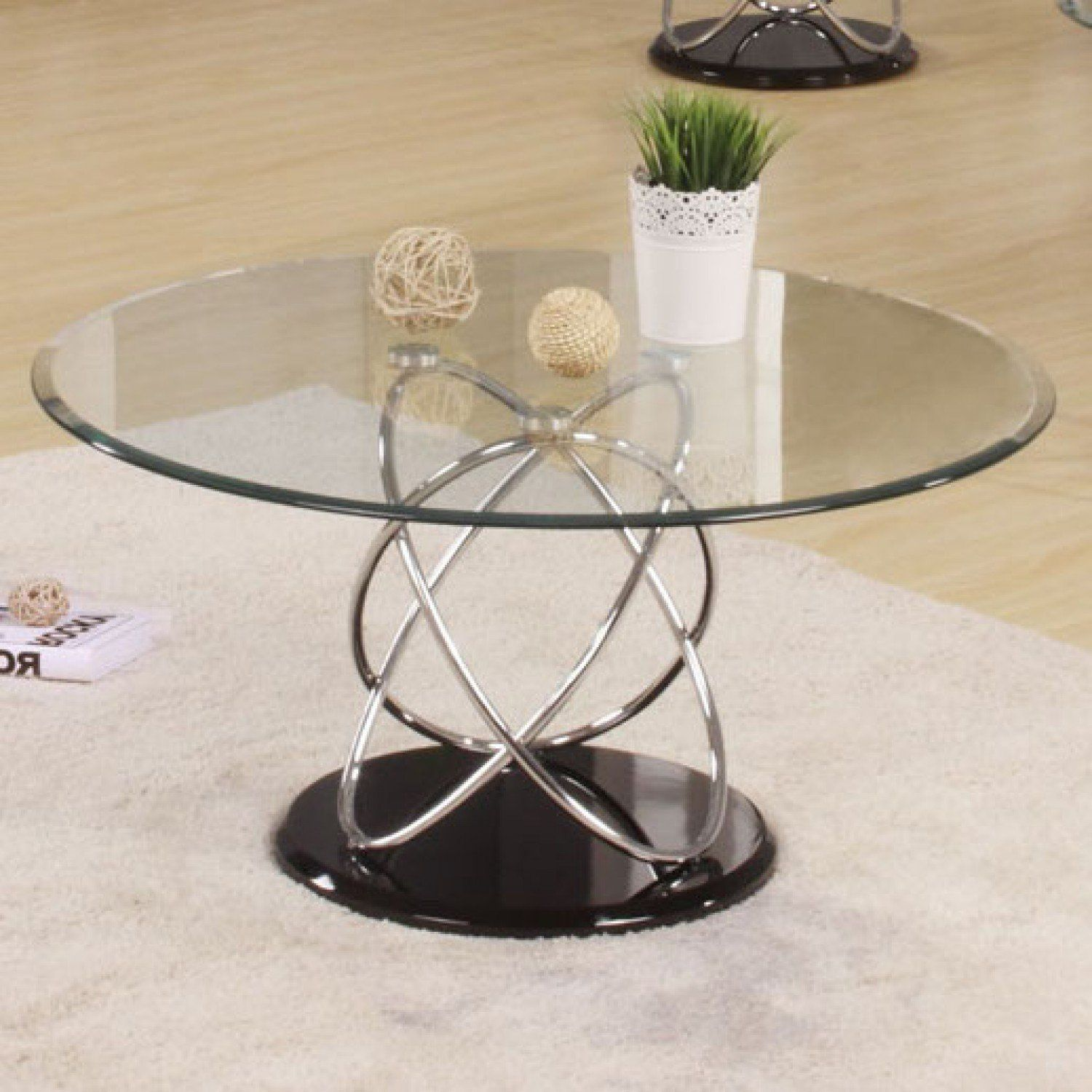 Acme Deron Chrome And Glass Coffee Table Learn More By Visiting The Image Link This Round Coffee Table Living Room Silver Coffee Table Glass Coffee Table [ 1500 x 1500 Pixel ]