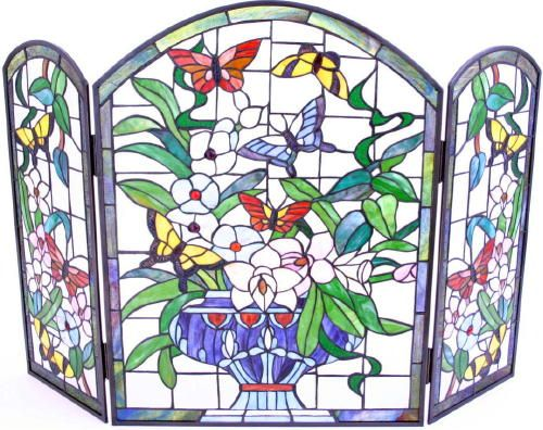Butterfly Fireplace Screen Stained Glass Stained Glass Butterfly