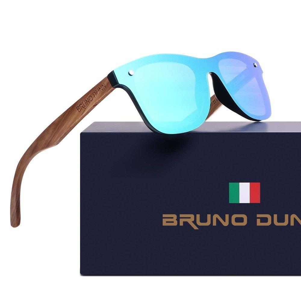66ff646f2 Bruno Dunn Wood bamboo Retro Unisex Sunglasses Polarized Luxury ...: