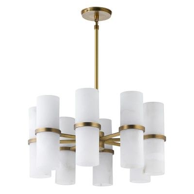 Bixby Brass And Alabaster Chandelier Williamssonoma