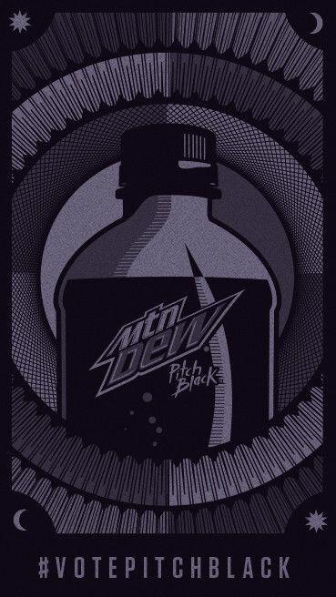 vote for mtn dew pitch black or mtn dew baja blast in the biggest
