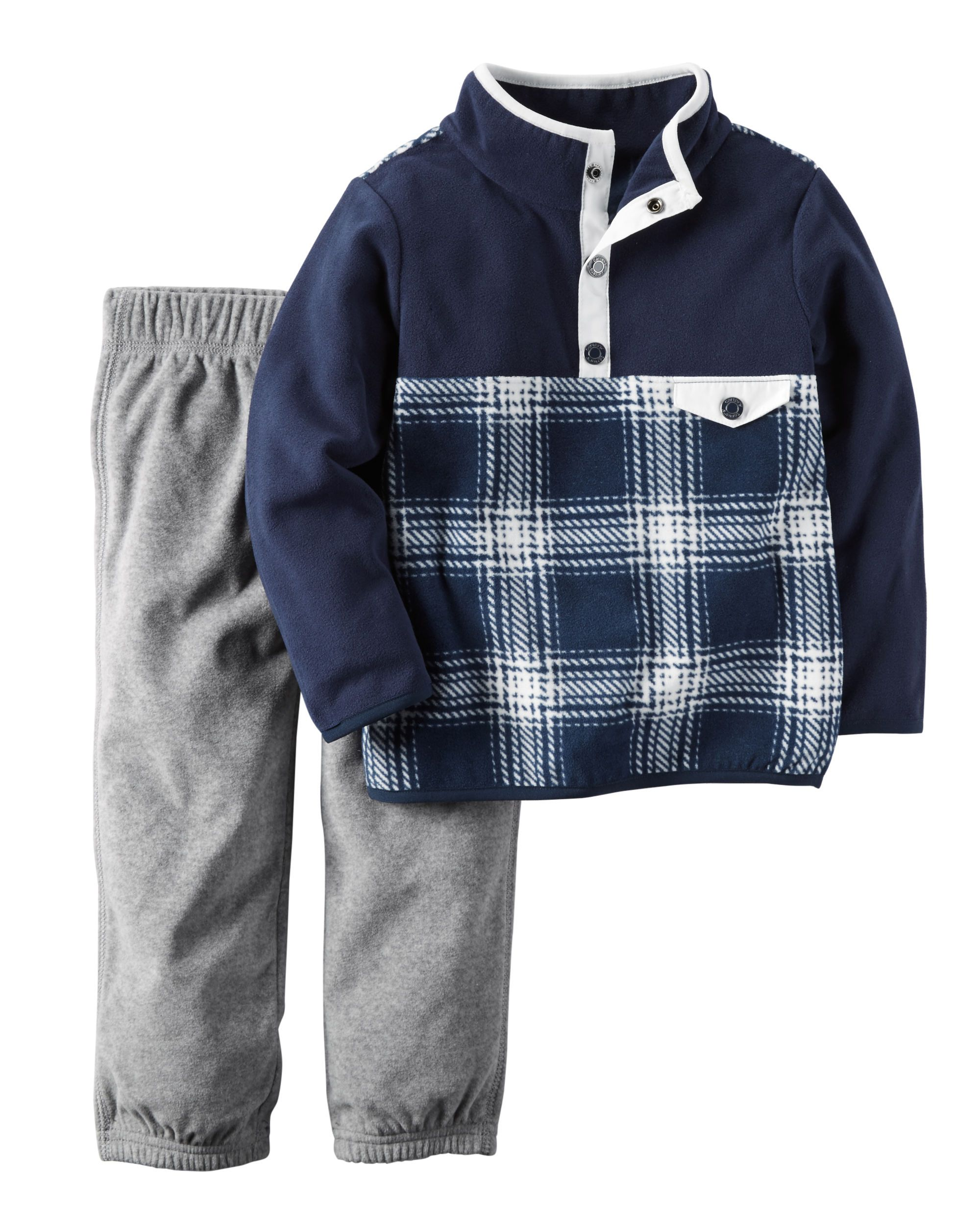 2-Piece Fleece Pullover & Pant Set | Babies, Babies clothes and ...