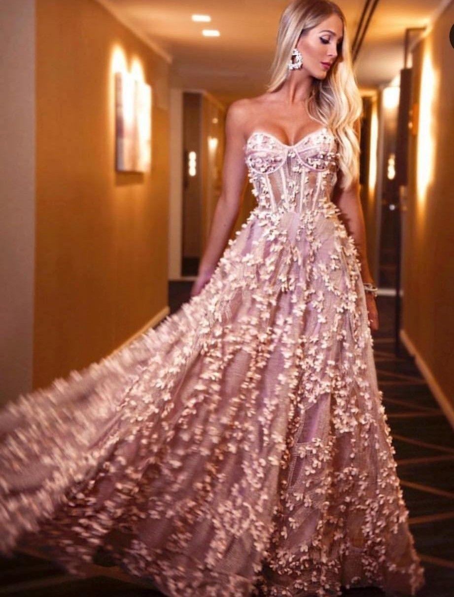 c11d72959 Vestido de gala elegante corset moda 2019 tendencia