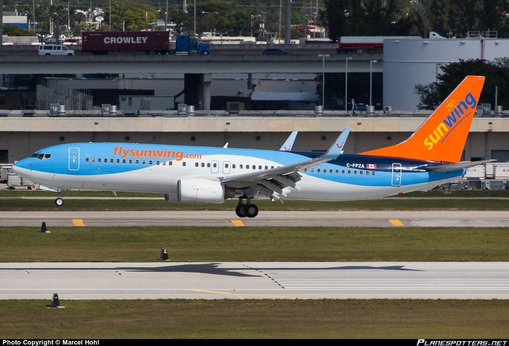 CFPZA Sunwing Airlines Boeing 7378K5(WL) taken 15. Feb
