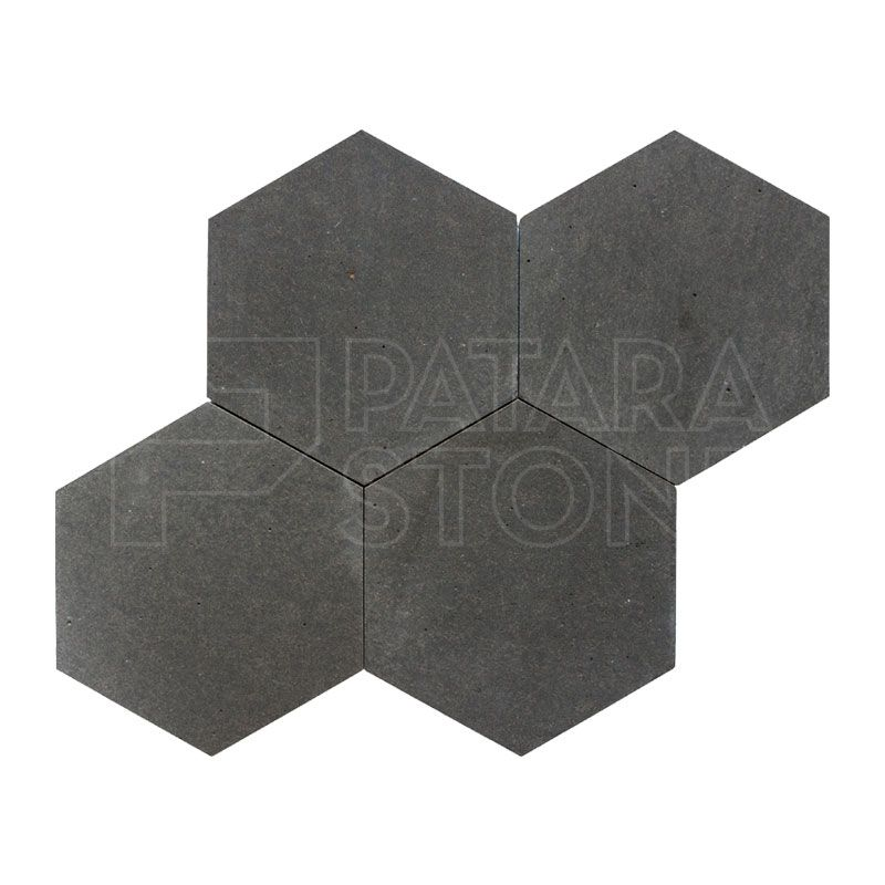 Volcano Honed 6 Inch Hexagon Tile