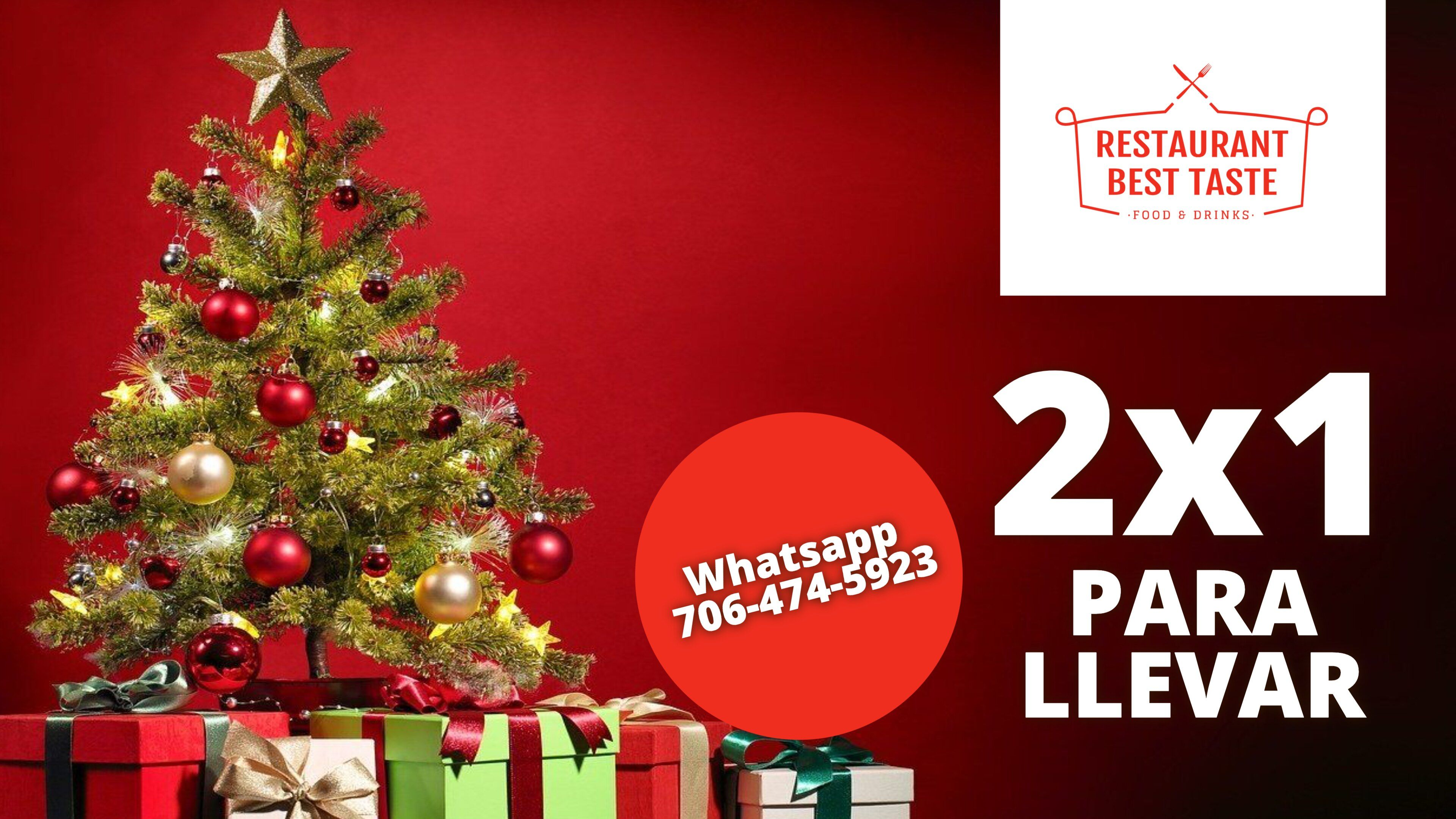 Oferta 2x1 Para Llevar Plantilla Horizontal Editable Christmas Campaign Business Christmas Christmas Marketing
