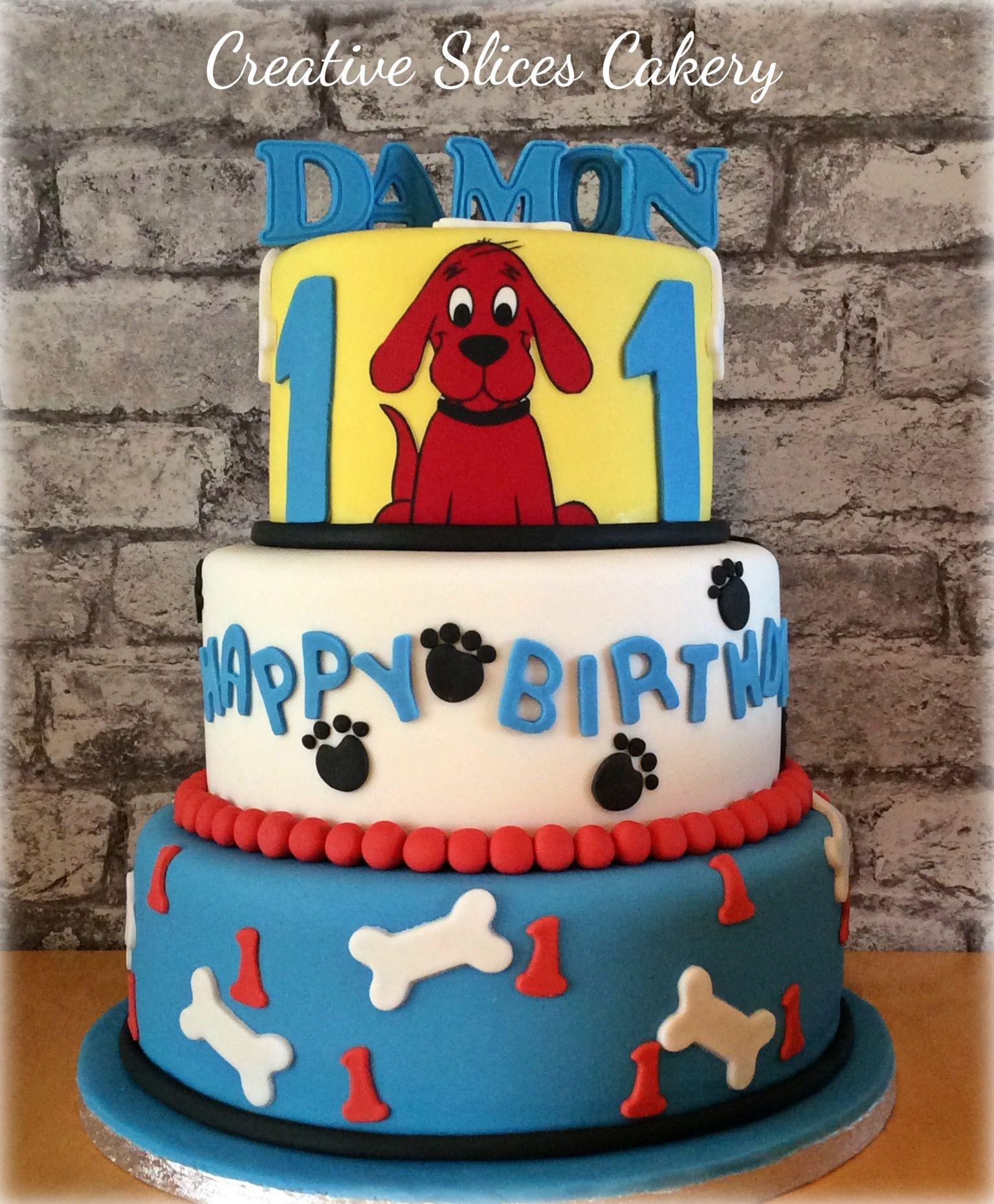 Clifford The Big Red Dog 1st Birthday Cake X Clifford Pinterest