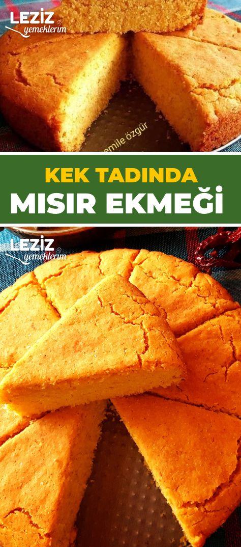 Kek Tadında Mısır Ekmeği