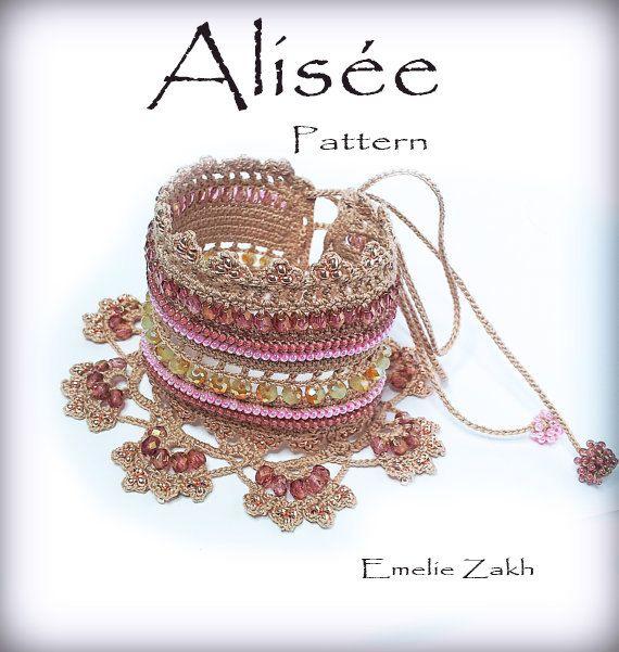 Pattern crochet beaded bracelet .Video in YouTube+ PDF file ...