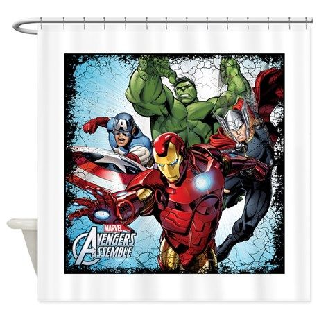 Avengers Assemble Shower Curtain On Cafepress Com Avengers Assemble Unique Shower Curtain Unique Shower