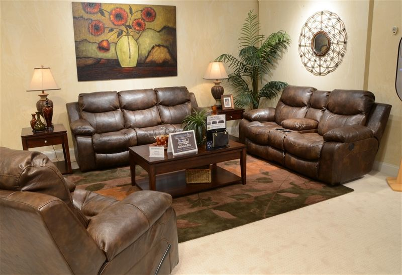 Best Catalina 2 Piece Power Leather Reclining Sofa Set By 640 x 480