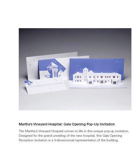 John Kneapler Design, Marthau0027s Vineyard Hospital Gala Opening Pop - invitation unveiling