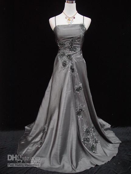 Wholesale Cherlone Plus Size Satin Grey Lace Prom Ball Gown Wedding Evening Dress Uk 22 Evening Dresses For Weddings Wedding Evening Gown Evening Dresses Prom